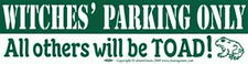 BUMPER STICKER: WITCHES PARKING ONLY   Wicca Witch Pagan Goth