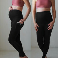Women Maternity Leggings Elastic Seamless Yoga Sports Pants Pregnant Trousers CR