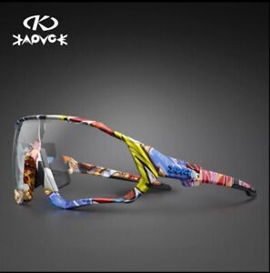 KAPVOE Photochromic Cycling Sunglasses Unisex TR-90 Road Mountain Bike Glasses