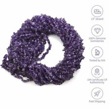 "Amethyst Gemstone Freeform Nugget Chip Beads 34"" Strand 4-6mm Stone Bead Size"