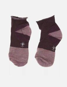 SmartWool  Womens Luna Mini Boot Socks Bordeaux Heather Size Medium 0135
