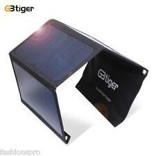 GBtiger 21W Dual USB Portable Sunpower Solar Charger Panel Power  Emergency Bag