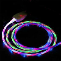 LED flowing Light Up USB Sync Charger Data Cable Charging Cord  for Samsung