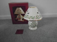 Lenox Tartan Pattern Candle Lamp New In Box