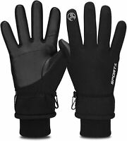 -30°F Touch Screen Thermal Gloves Windproof Warm Gloves Men Women (Black,SIze:M)