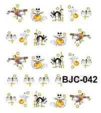 Nail art stickers décalcomanie: Déco Halloween fantômes citrouilles chats