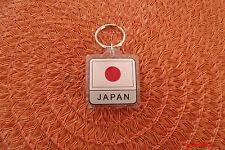 "Japan Flag Key Chain, 2 Sided, 1 1/2"", Plastic Key Chain , Souvenir"