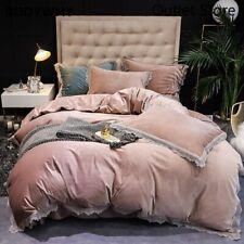 Bedding Set Super Soft Velvet Bed Linen Bed Sheet Set Bedclothes  Bed Cover 4pcs