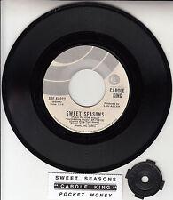 "CAROLE KING Sweet Seasons 7"" 45 rpm vinyl record + juke box title strip"