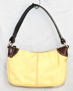 NWOT DOONEY & BOURKE RW75 5R Small Top Zip Yellow Nylon Handbag Purse Baguette