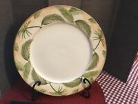1 American Atelier At Home Tropical Palm Plates 5185 Porcelain China
