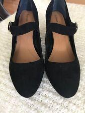 Style & Co Mary Jane Vegan Suede Block Pumps Black Pumps Heels 11