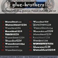 3 x 20cm Wunschtextaufkleber Schriftzug Aufkleber Auto Motorrad Sticker Farbwahl