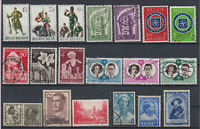 Belgium soldiers,Europa Cept,flora,OTAN,famous people 19 stamps USED