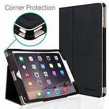 iPad Air Case Synthetic Leather Cover Multi-Angle Viewing Stand Hand Grip Black