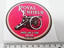 ROYAL ENFIELD Motorcycle STICKER  - Made like a Gun Since 1955