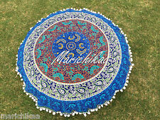 Decorative Mandala Pillow Cover Round Floor Cushion Cover Tapestry 82 Cm's
