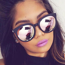 2017 Womens Retro Flat Lens Mirrored Designer Sunglasses Eyewear Eye Glasses New