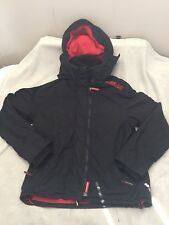 Superdry Men's Size XL Black And Red Windcheater Rain Jacket B3