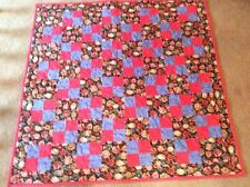 "Lap or Throw Quilt, Handmade & Machine Quilted Cotton Washable New 45"" x 45"""