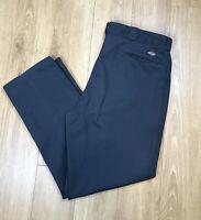 Vintage Dickies Blue Grey Straight Leg Pocket Work Trousers Pants W42 L32