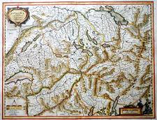 Svizzera Switzerland Cantone Helvetia cum finitimis regionibus Mercator Blaeu 1640