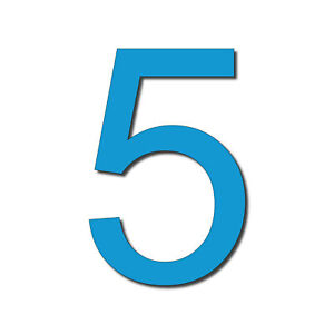 HOUSE NUMBER 5 Arial Acrylic Large Floating Cool Stylish Modern Gloss Black DIY