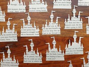 Harry Potter Book Confetti Castle Hogwarts Shaped Table Decor Party Wedding