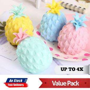 1x/4x 3D Soft Pineapple Anxiety Stress Relief Ball Fidget Sensory Squishy Toy
