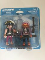 NEW PLAYMOBIL 5819 DUO-PACK PIRATES BUCCANEERS FIGURES BLISTER PACKED