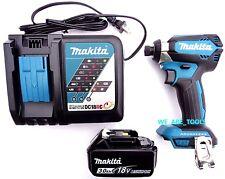 """New Makita Brushless 18V XDT13 1/4"""" Impact,(1) BL1830 Battery, 1 Charger 18 Volt"""