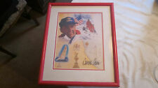 Dennis Conner Signed Framed Limited Edtion 19X16 Stars & Stripes Photo