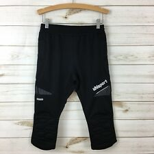 New Uhlsport Kids Black Soccer Padded Goalkeeper Long Shorts. Ss 152-Xl(11-12Y)