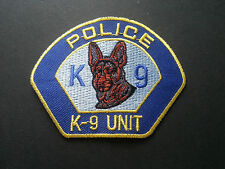 HEAVY METAL PUNK ROCK MUSIC SEW / IRON ON PATCH:- POLICE K9 UNIT