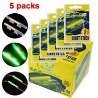 5 packs Luminous Clip On Fishing Rod Light Sticks Fishing Float Glow Stick-.