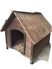 Outback Country Lodge Wooden Dog House By Precision Pet For Dogs Up To 65 Lbs.