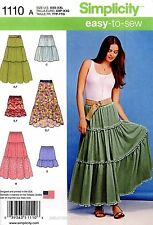 Simplicity Sewing Pattern 1110 Women's XXS-XXL easy-to-sew tiered Skirts