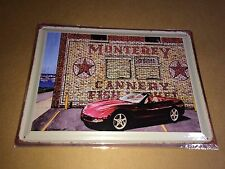 Corvette C5 convertible Monterrey Cannery tin sign 12X16