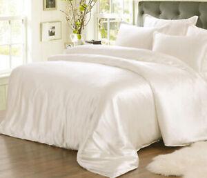 19mm 100% Silk Seamless Duvet Quilt Cover Sheets Pillow Case & Set Queen Size