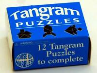 TANGRAM PUZZLE BY HOUSE OF MARBLES BRAIN TEASER MIND BENDER NOVELTY TOY TRICK