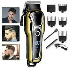 UK Professional Hair Clippers Mens Basic Barber Set Beard Trimmer Shaver Cutter