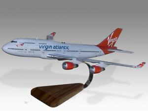 Boeing 747-400 Virgin Atlantic Tinker Belle Wood Handcrafted Airplane Desk Model