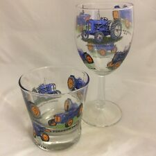FORDSON  TRACTOR WINE & WHISKY  GLASS 6 DIFFERENT MODELS ON