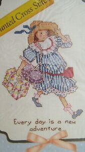 HOLLY HOBBIE Every Day is a new Adventure  cross stitch kit  1990