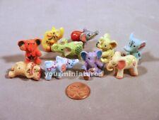 Elephants French Feves Porcelain 10 Figurines Epiphany Cake