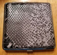 Eclipse Snakeskin Print Kings Cigarette Case Holds 20 Cigarettes