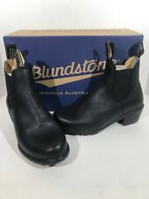 Blundstone 1671 Women's Size 6.5 Black Leather Pull On Heel Chelsea Boots X1-67