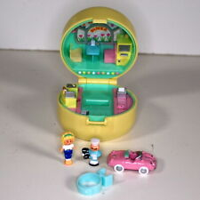 Polly Pocket 50's Diner COMPLETE vintage 1991 Bluebird Car Ring Yellow Compact