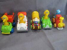 Lot 5 Vintage Sesame Street 1980's Die Cast Metal Toy Set Grover Big Bird Cookie