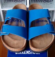 Birkenstock ARIZONA 057801 size 40/L9M7 R Blue Nubuck Soft Footbed Sandals